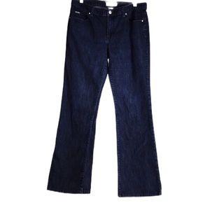 Calvin Klein Straight Leg Distressed Blue Jeans